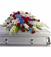 Distingguished Service Casket Spray SY113