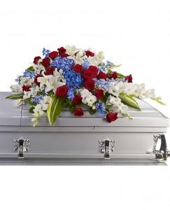 Distinguished Floral Casket Flowers in Baytown, TX | Black Orchid Florist LLC