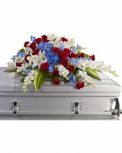 Distinguished Service Casket Spray in Granville, NY | The Florist at Mandy's Spring