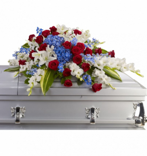 Distinguished Service Casket Spray in Chesapeake, VA | Floral Creations