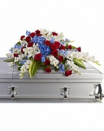 Distinguished Service Half Casket Spray