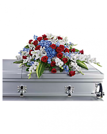 Distinguished Service Casket Spray Casket Cover