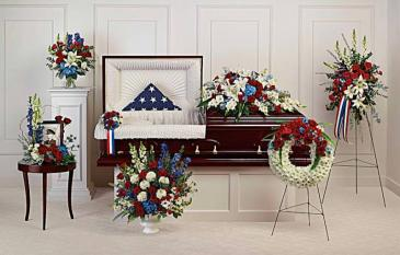 Distinguished Service Collection Sympathy Arrangements