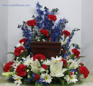 Distinguished Service Tribute Arrangement in Winston Salem, NC | RAE'S NORTH POINT FLORIST INC.