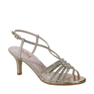 Diva Champagne Shoe Evening Shoe #D102