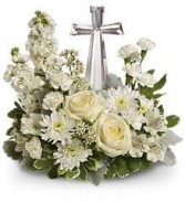 Divine Cross Bouquet Sympathy