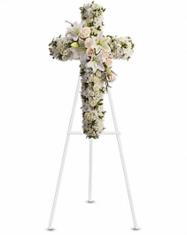Divine Cross Sympathy Standing Spray