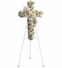 Divine Light                               T232-2A Funeral Standing Spray