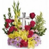 Divine Peace Basket - Bright Sympathy Floral Arrangement