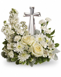 Divine Peace Bouquet Funeral Arrangement