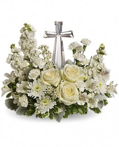 Divine Peace Bouquet One-Sided with Crystal Cross