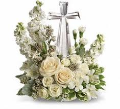 DIVINE PEACE CRYSTAL CROSS  in Buda, TX | Budaful Flowers