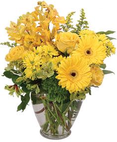 Divinely Golden Flower Arrangement