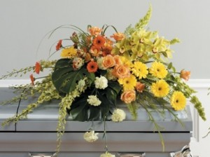 DK3511 Casket Spray in Naples, FL | DYNASTY FLOWER SHOP
