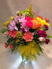 DLF Citrus Vase Bouquet  Best Seller