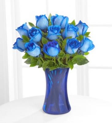 Docena de rosas azules
