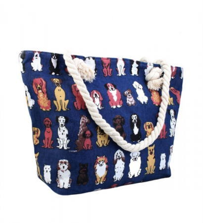 Dog Canvas Tote