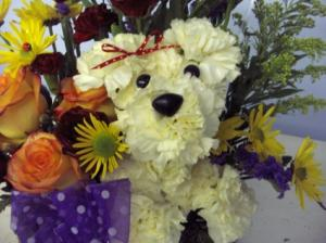 Puppy Love Basket Humane Society Donation in Longview, WA | BANDA'S BOUQUETS