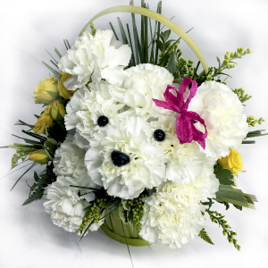 Doggone Adorable Puppy Basket in Wray, CO | LEIGH FLORAL & GIFT