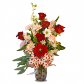 The Polka Dot Special Fresh Cut in Vase