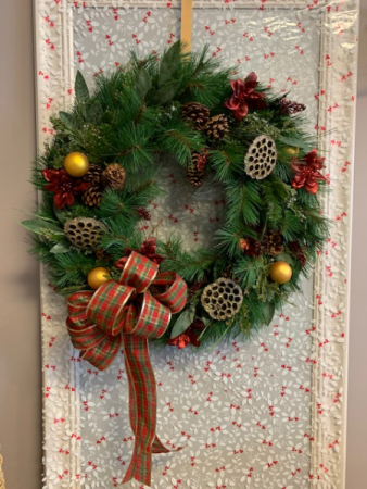 door wreath - fresh or permanent