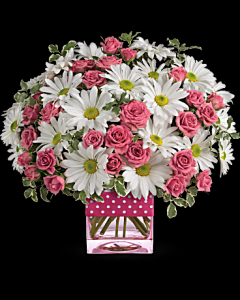 Dots And Posies Mini Roses & Daisies in White Oak, PA | Breitinger's Flowers & Gifts