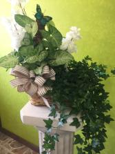 Double Basket Of Plants