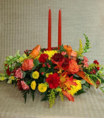 Double Candle Fall Centerpiece