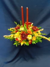 Double Candle Fall Centerpiece $69.95
