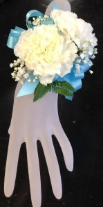 Double Carnation Wrist Corsage