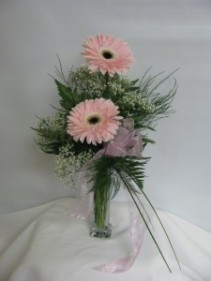 Double Delight vase arrangement
