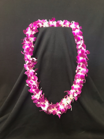 Double Dendrobium Orchid Lei