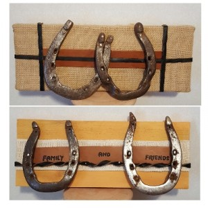 Double Horseshoe wall plaques wall hangings