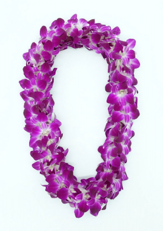 DOUBLE LEI - PURPLE Fresh orchids