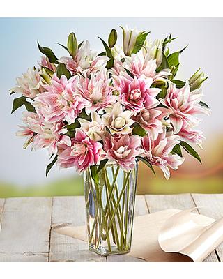 Double Lily  Vased Design