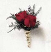 Double Mini Rose Boutonniere