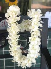 Double Orchid Lei- White Graduation