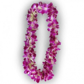 Double purple orchid leis