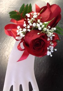 Double Red Rose Wrist Corsage