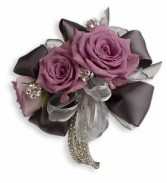 Double Rose Special Band & Jewels Corsage