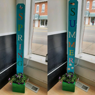 Double-sided Porch Sign Planter