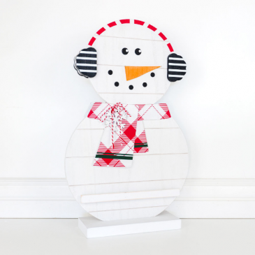 Double sided Snowman sign with letter ledge
