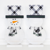 Double Sided Snowman with Letter Ledge