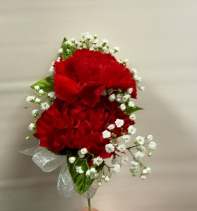 Double standard carnation corsage