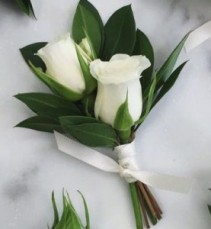 Double Sweetheart Rose  Boutonniere