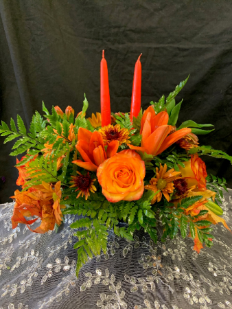 Double Taper Fall Centerpiece Centerpiece