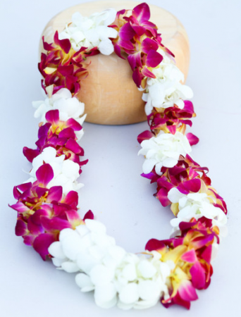 DOUBLE TROJAN/RED-YELLOW WHITE LEI GRADUATION LEI