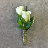 Double Trouble- White Boutonniere