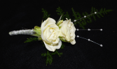 DOUBLE WHITE BOUTONNIERE IN STORE PICK UP ONLY BOUTONNIERE