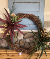 "Double XL 34"" Silk Desert Garden wreath"